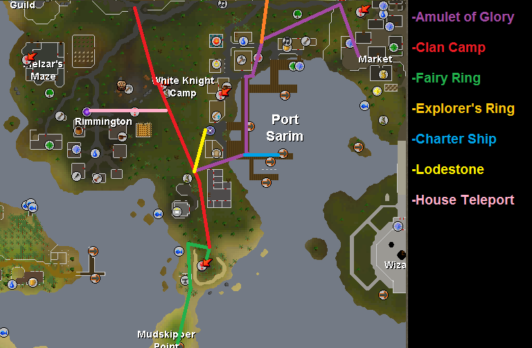 Getting there map