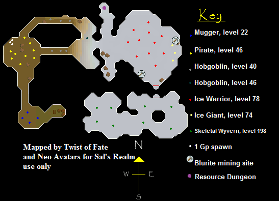 Map of the Ice Cavern