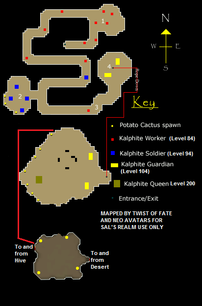 Map of the dungeon