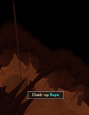 Climb up rope