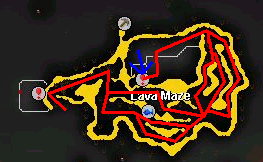 A map of the main dungeon entrance