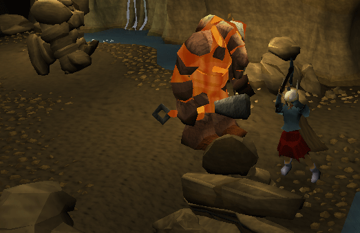 Mining in the Living Rock Cavern