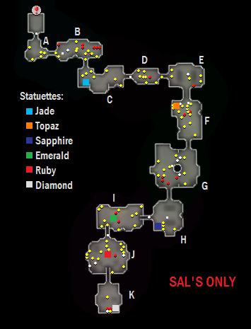 Map of the Lumbridge Catacombs