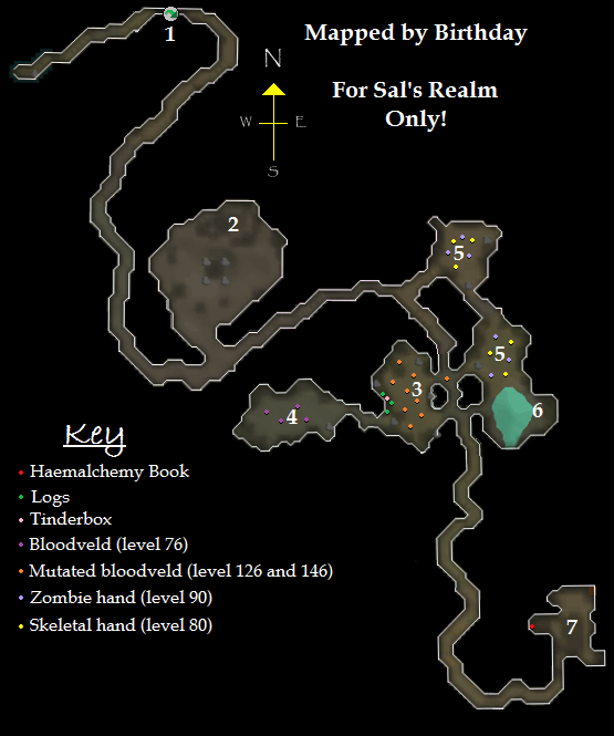 Map of the Meiyerditch Dungeon