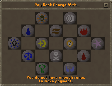 Pay bank charge with...