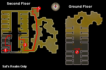 Maps of the ground floor and second floor