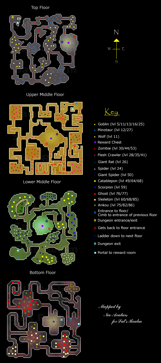Map of the Stonghold of Security dungeon