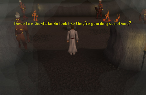 Fire giants and Pyrefiends are also found down here