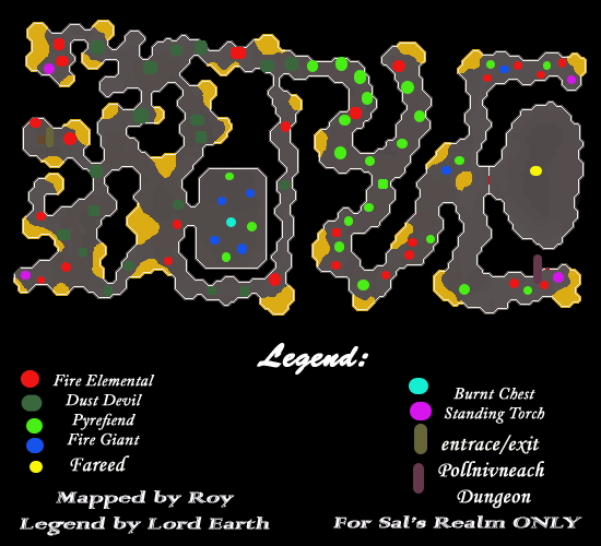 A map of the Smokey Well dungeon