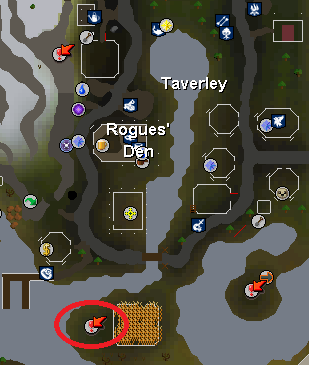 The location of Taverly Dungeon