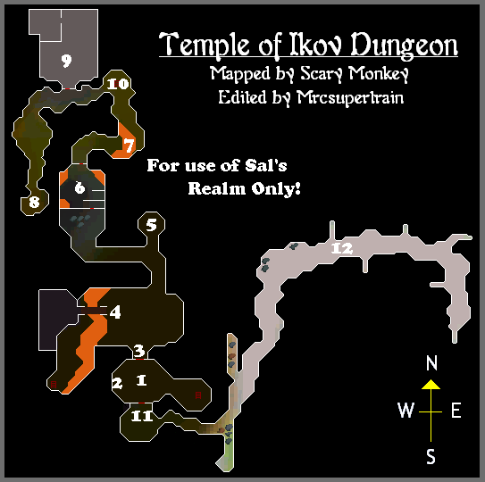 A map of the temple of ikov