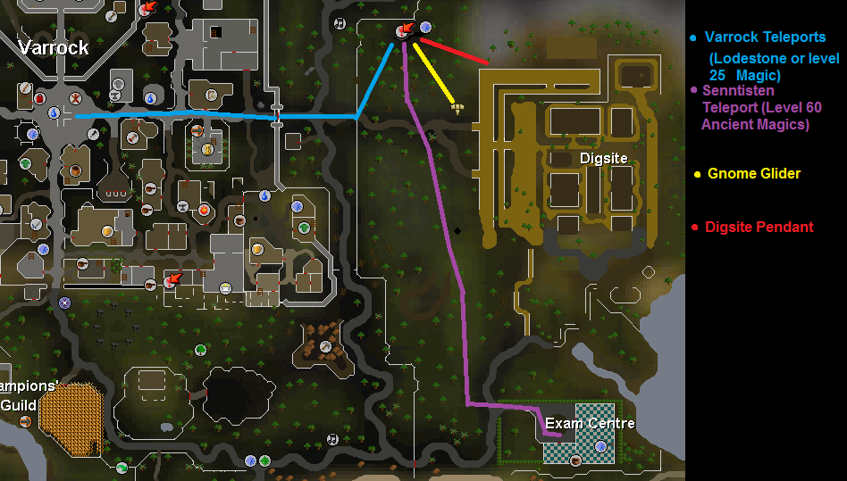 The route to the Dungeon of Tolna