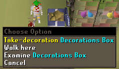 Decorations box