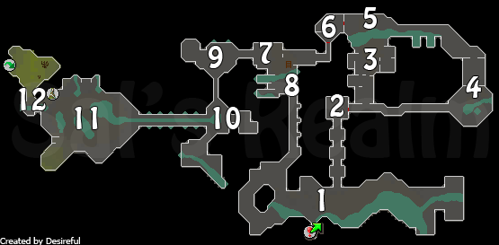 Map of the Varrock Sewers