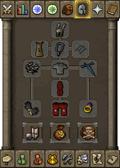 Suggested melee equipment