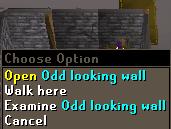 Push odd looking wall