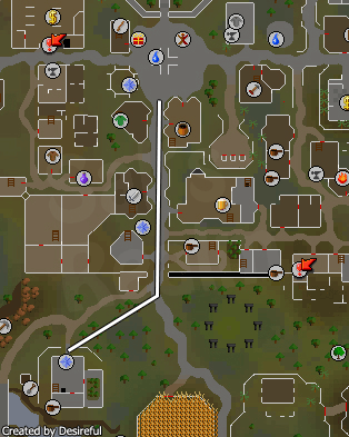 A map to the Champion's Guild