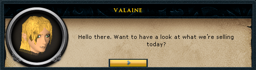 Valaine: Hello there. Want to have a look at what we're selling today?