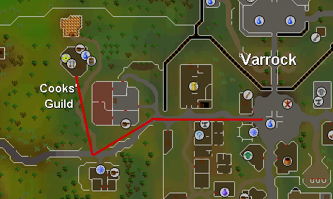 Route from varrock to the guild
