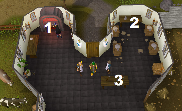 The first floor of the Crafters' Guild