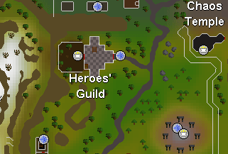 Map of the Heroes' Guild