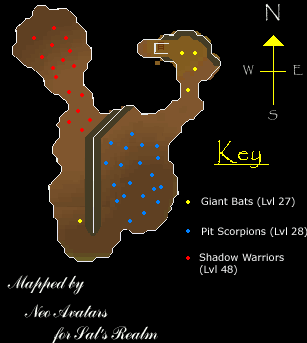 A map of the Legends' Guild Basement/Dungeon