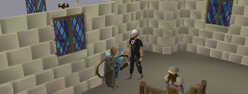 Talk to a dwarf outside to talk about the mining cape