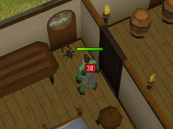 A Kharid scorpion is scuttling around the guild!