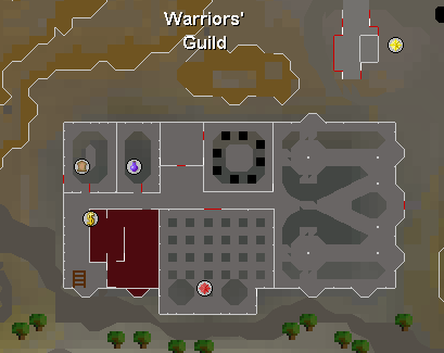 Map of the Warriors' Guild