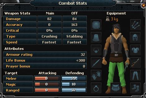 Adamant Defender Combat Stats