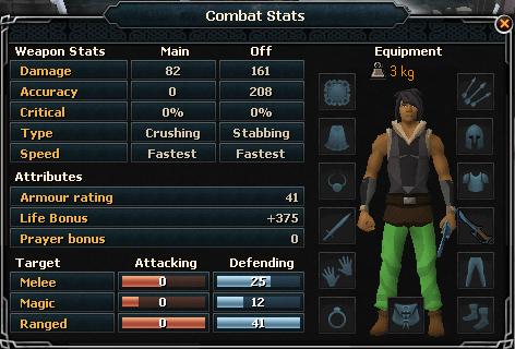 Rune Defender Combat Stats