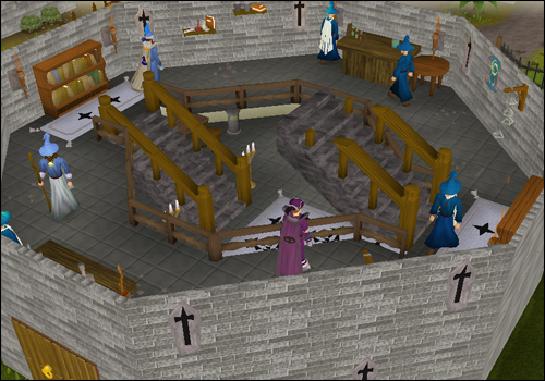 The middle floor of the Wizards' Guild