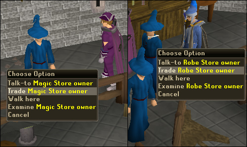 The robe store and magic store