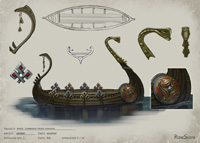 Lumbridge Viking Longship Concept Art