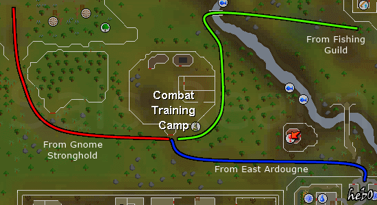 Routes to King Lathas' Training Camp