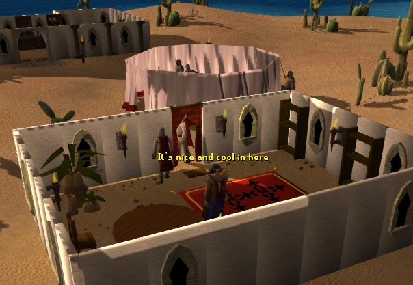 Desert Bandit Camp training building