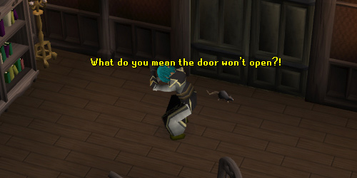 Front entrance to Draynor Manor. Careful, it locks behind you!