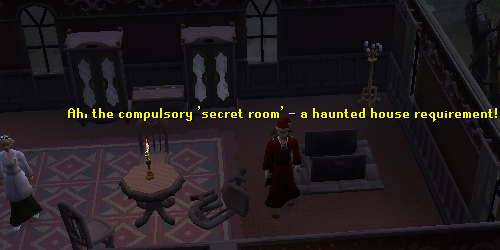 Ava can be found in the secret room, along with a ladder leading to the basement.