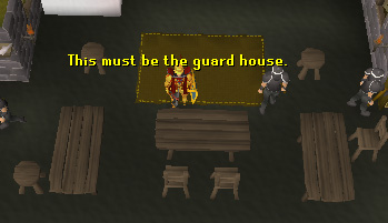 Some guards can be found in this house