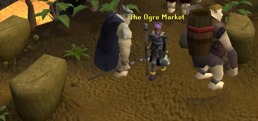 The bustling ogre market