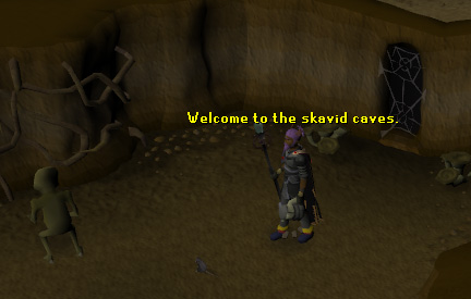 Skavid cave entrance