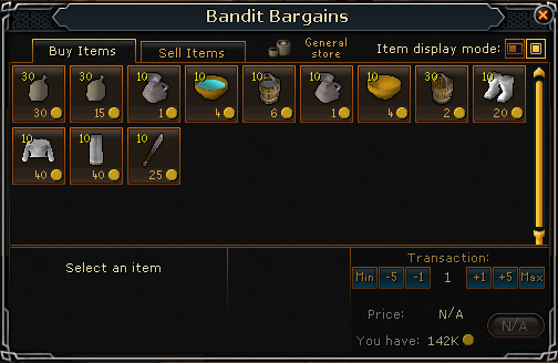 Bandit Bargains