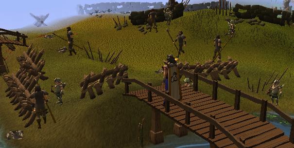 On the bridge of the main battleground area