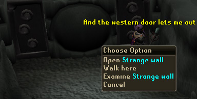 The west door lets you out