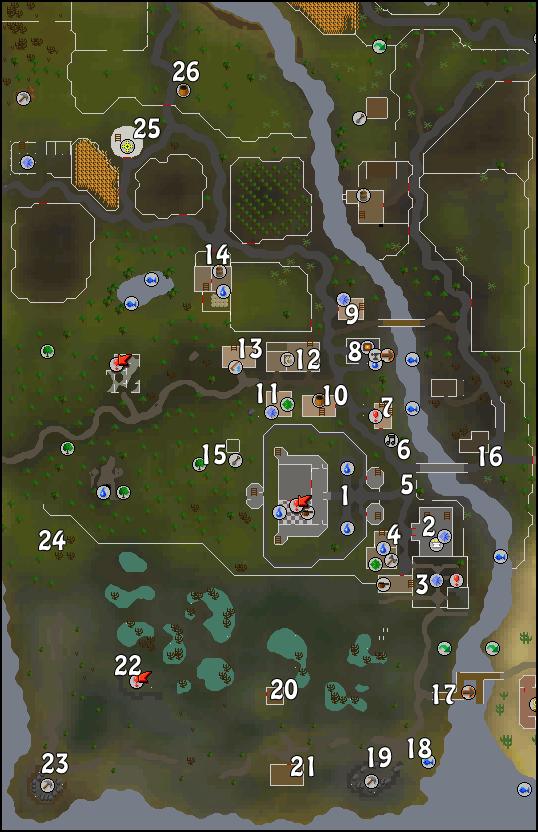 A map of Lumbridge