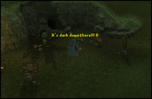 Entrance to the Lumbridge Swamp Caves