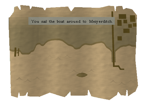 You sail the boat around to meiyerditch