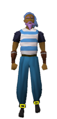 Blue pirate clothes