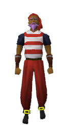 Red pirate clothes