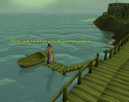 This boat will bring you to Dragontooth Island